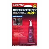 Loctite 243 - Fijador de roscas Resistente al Aceite, Color Azul, Azul, 6 Milliliter