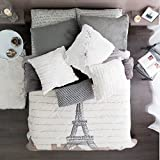 PARIS CHIC EIFFEL TOWER FRENCH TEENS BLANKET WITH SHERPA KING