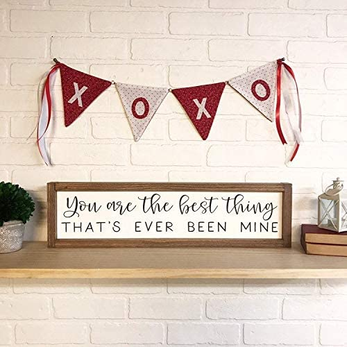 You Are The Best Thing Thats Ever Been Mine Framed Wood Sign Taylor Swift Custom Song Lyrics Modern Farmhouse Style Kids Room Amazon Ca Baby