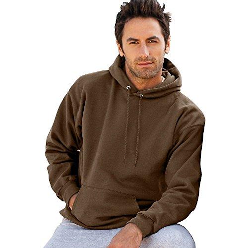 - Hanes Mens Ultimate Cotton 90/10 Pullover Hood, Dark Chocolate, XX-Large