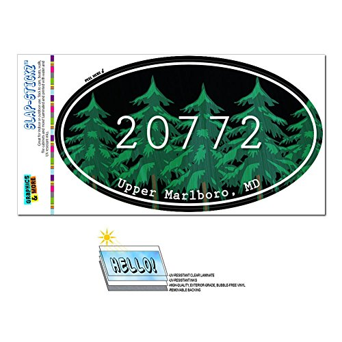 graphics-and-more-zip-code-20772-upper-marlboro-md-euro-oval-window-bumper-laminated-sticker-forest