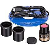 AmScope MD500 5.0 Mega Pixel USB Still Photo & Live Video Microscope Imager Digital Camera 5MP, Windows XP/Vista/7/8/10