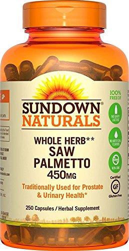 Sundown Naturals Saw Palmetto, 450 mg, 250 Capsules (Pack of 2)