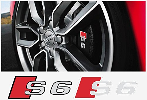 Audi S6 brake caliper decal 4 pcs. Set (silver Ð red Ð black)