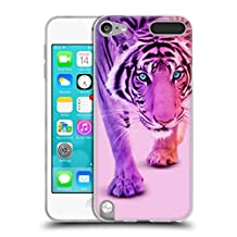 Official Paul Fuentes Colour Tiger Animals 2 Soft Gel Case for Apple iPod Touch 6G 6th Gen