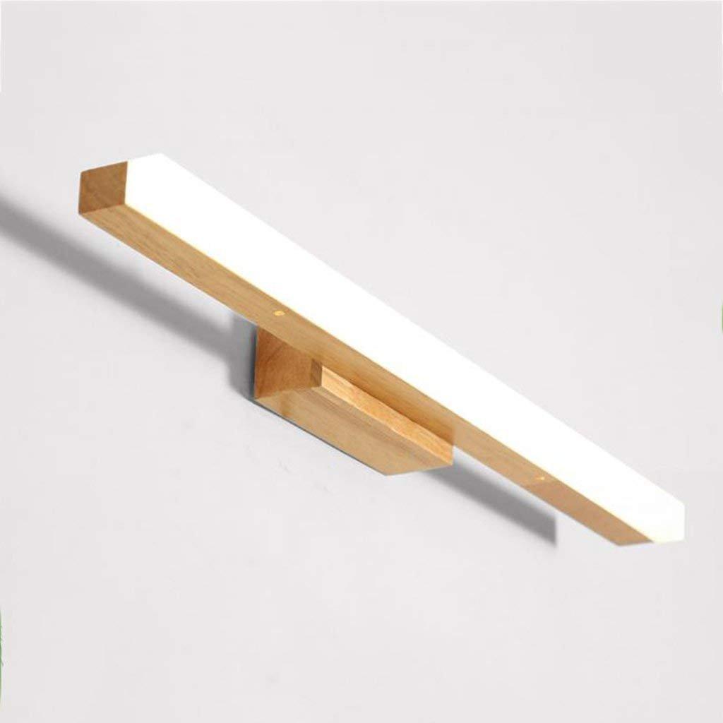 Weißlight 605cm JBP Max Spiegel Licht Bad Light Massivholz Spiegel Scheinwerfer Schlafzimmer Nachtlampe Energiesparende LED,Weißlight,60  5Cm
