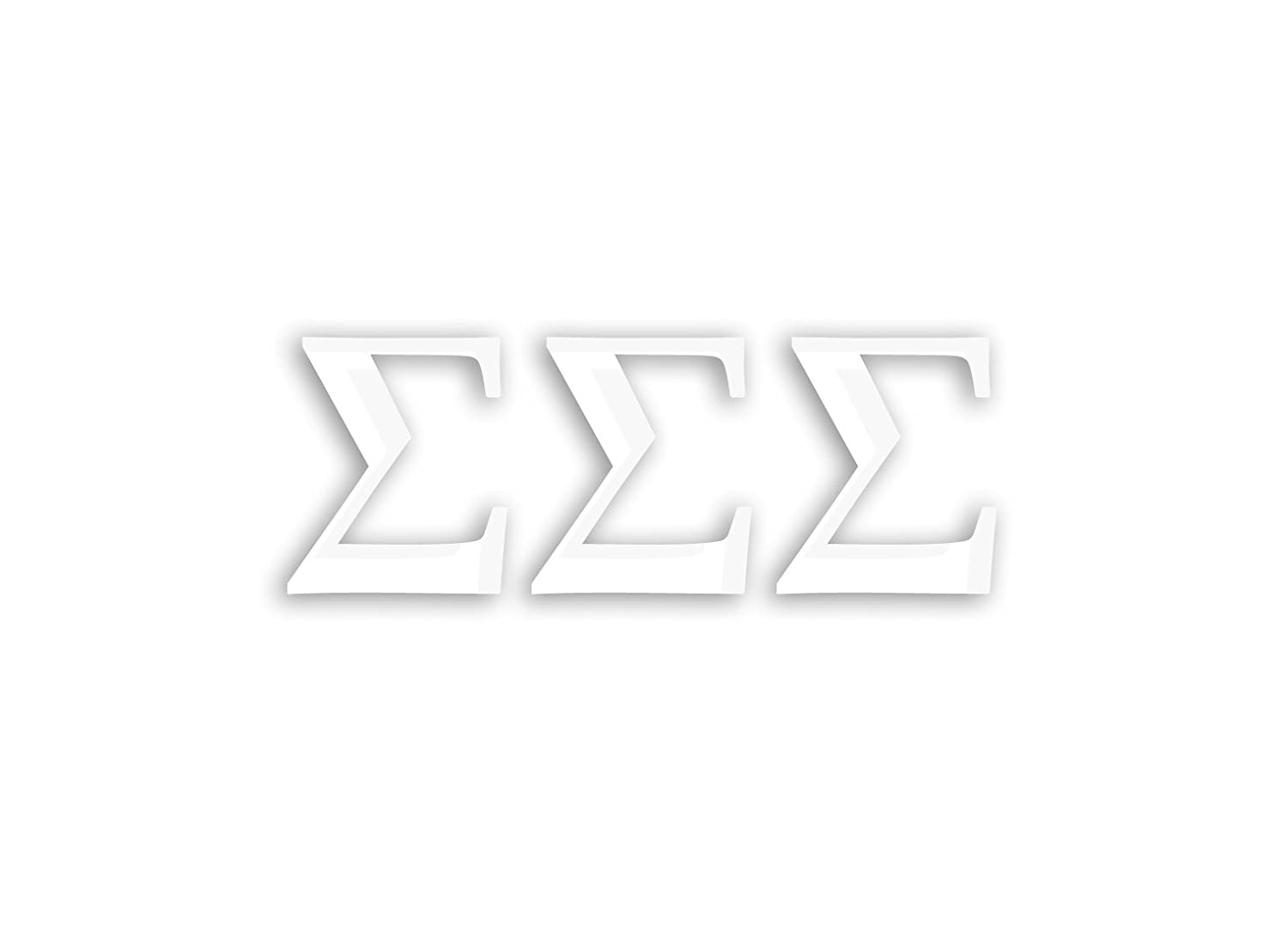 White Officially Licensed Sigma Sigma Sigma 8 x 3 Window Decal