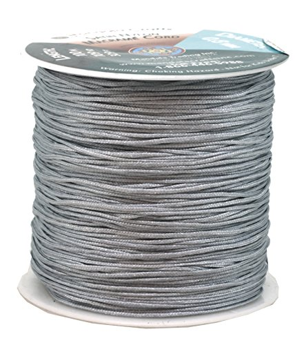 (Mandala Crafts 0.8mm 100M Satin Nylon Chinese Knot Rattail Macramé Beading Knotting Sewing Cord (Gray))