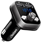 FM Transmitter for Car Bluetooth, OBSTARO Bluetooth Fm Transmitters, Wireless Car Radio Adpter, MP3 Player Stereo Music Adapter Car kit with Dual USB Ports,Hands Free for iPhone, Ipad,Smartphones