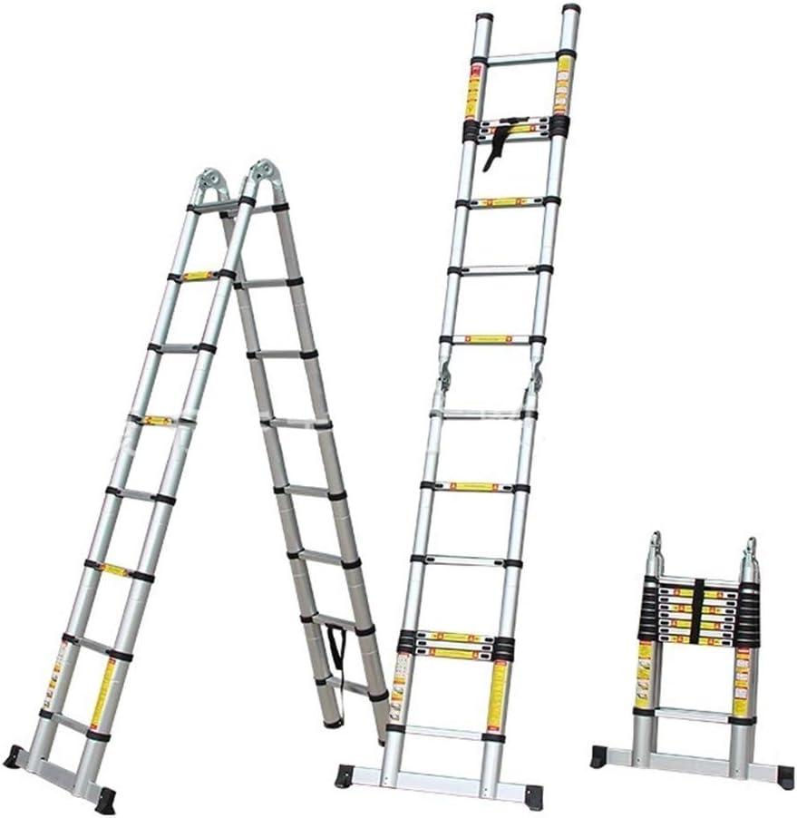 Escalera Telescópica/Escaleras Extensibles Escalera Telescópica 1,6 M / 2 M / 2,4 M / 2,8 M / 3,2 M, Multi-función De Las Escaleras De Extensión Plegable Fácil Llevar Tall Al Aire Libre