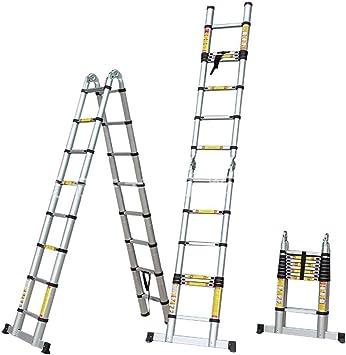 Escalera Telescópica/Escaleras Extensibles Escalera Telescópica 1,6 M / 2 M / 2,4 M / 2,8