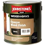 5 LTR JOHNSTONES WOODWORKS OPAQUE WOOD FINISH SATIN BURNT WALNUT by Johnstones