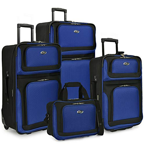 Travelers Choice New Yorker 4-Piece Luggage Set in Silver Gray