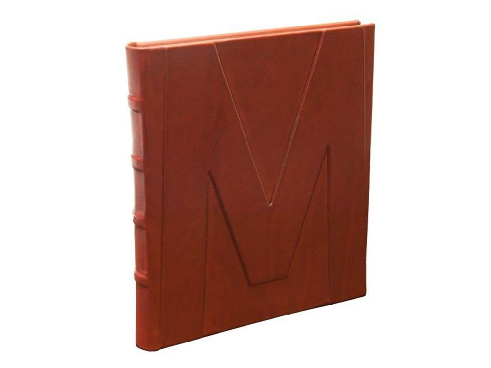 il Torchio - Leather-bound notebook with embossed letter cover