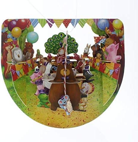 Santoro 3D Pop-Up Popnrock Greeting Card Ice Cream Cake Shop