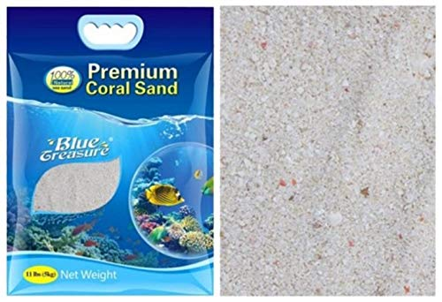 BLUE TREASURE Arena coralina Fino 0.5/ /1/mm aragonita 20/kg Arrecife Fondo de Acuario Marino.