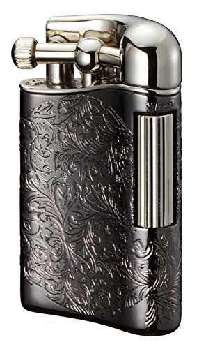 Sarome Flint Lighter for Pipe PSD12-28 Antique black arabesque / Silver by Sarome