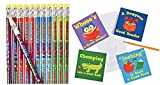 I Love Reading Pencils and Notepad Set (48 Pieces)