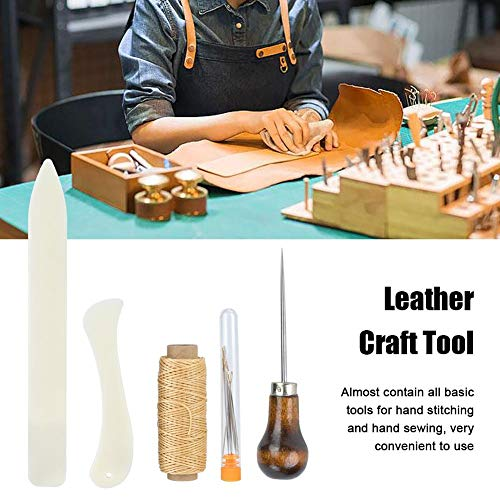 Leather Sewing Tool Practical Leather DIY Craft Stitching Poking Needle Sewing Working Hand Tool Kit Leather Working Tool
