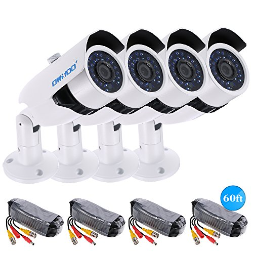 - Festnight OWSOO 4720P AHD IR CCTV Camera + 460ft Surveillance Cable Support IR-Cut Night Vision 30pcs Array Infrared Lamps 1/2.8