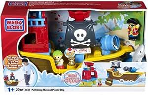Mega Bloks Pull Along Musical Pirate Ship
