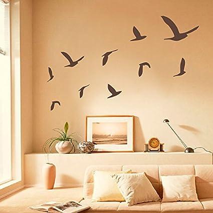 Amazon.com: Diggoo Flying Birds Wall Decal Flock of Birds Wall ...