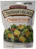 Chatham Village Large Cut Cheese & Garlic Croutons, 5-Ounce Bags (Pack of 12)