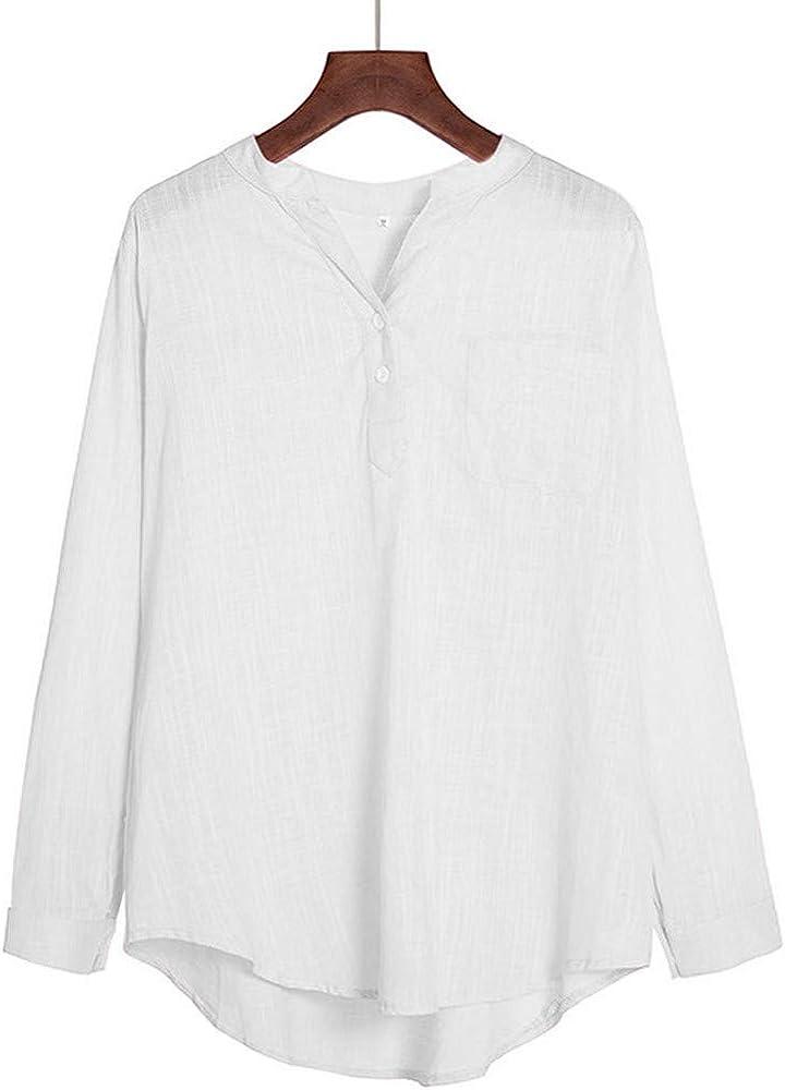 Vectry Camisa Blancas Mujer Blusa Mujer Otoño Camisetas Largas De Mujer Blusa Rosa Mujer Blusas Mujer Elegantes Bluson Encaje Mujer Blusa Blanca Cruzada Mujer Blusas para Mujer Camisa Blanca: Amazon.es: Ropa y