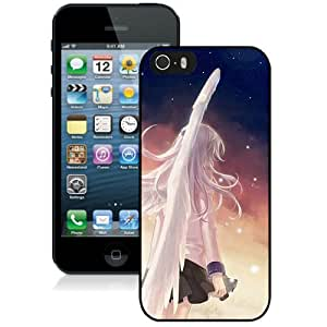 Hot Sale And Popular iPhone 5 5S Case Designed With Angel Beats Girl Wings Angel City iPhone 5 5S Phone Case