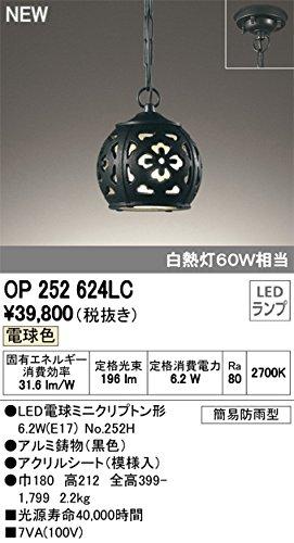 ODELIC(オーデリック) 和風LEDペンダントライト エクステリア 防雨型 白熱灯60W相当 電球色 OP252624LC B07DQFNMFQ 18050