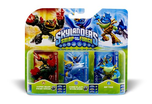 Skylanders Swap Force Triple 3 Pack Rip Tide Whirlwind Prism - Force Whirlwind Swap