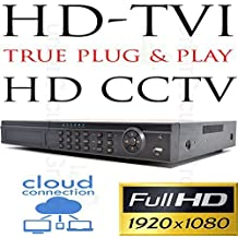 USG Business Grade 8 Channel 1080P @ 30FPS Each Channel LIVE TVI DVR: 8x BNC HD Video-In, 8Ch @ 2MP 1080P @ 240FPS LIVE, 2x SATA 8TB HDD Max, HDMI + VGA Video Outputs, H.264 Compression, RS485, RCA Audio In + Out, Cloud Connection, View Cameras Remotely On Phones, Tablets + Computers TRUE PLUG & PLAY HD CCTV