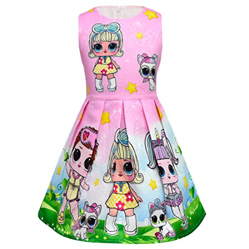 Pop Sister Pink2 and Girls Dresses Baby Pets Party Lil Evening Princess Thombase qSwaE47