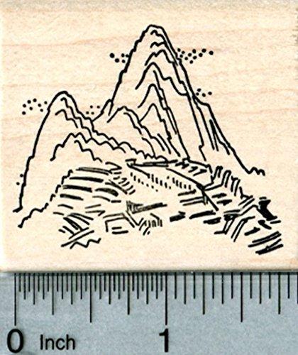Machu Picchu Rubber Stamp, Inca citadel, Peru, World Travel Series