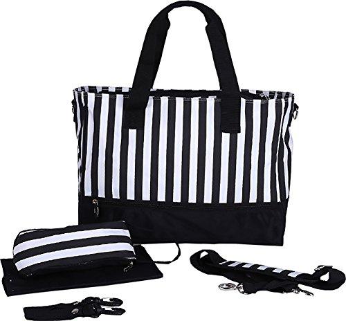 Besporter multifuncional elegante moda bebé bolsa de pañales bolso cambiador Pad maternidad infantil Stuff almacenamiento Mummy bolso de mano y hombro bolsas marrón café negro