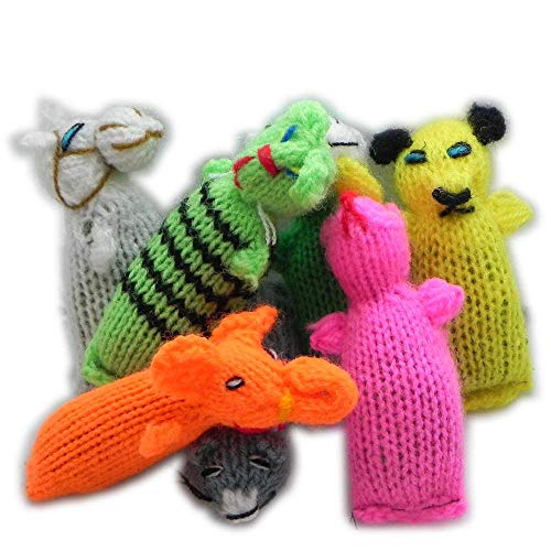Barn Yarn Hand Knit Wool Cat Toy with Catnip 6 Pack (Cat Barn Cats)