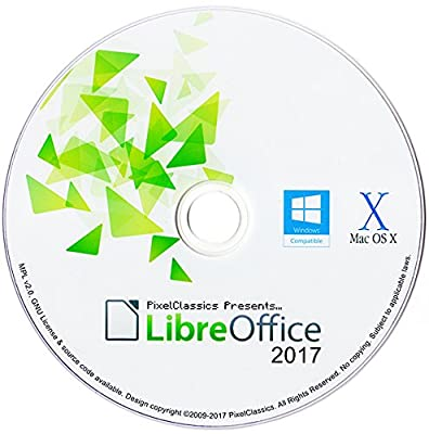 LibreOffice 2017 Microsoft Office 2016 2013 2010 2007 365 Word & Excel Compatible Software for PC Windows 10 8.1 8 7 Vista XP 32 64 Bit, Mac OS X & Linux - No Yearly Subscription!