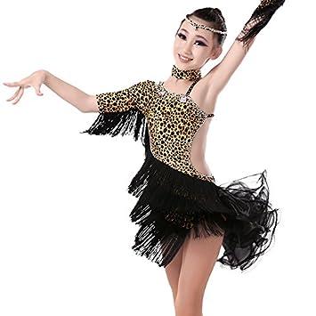 HHY Kinder Tanzkleider Latein Übung Kleidung Mädchen lateinische ...