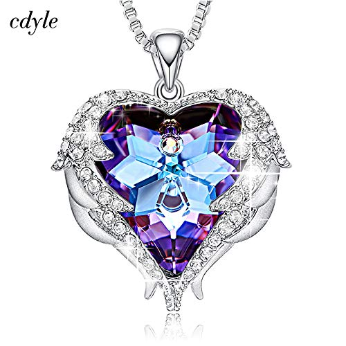 (Pendant Necklaces - Cdyle Crystals from Swarovski Necklaces Zircon Fashion Jewelry for Women Pendant 2018 Blue Rhinestone Luxury Set Heart Statement - by Mct12-1 PCs)