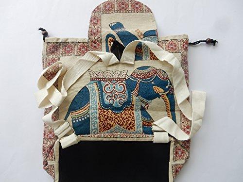 Ariyas Thaishop - Bolso mochila  para mujer Beige beige - marrón Beige - blau
