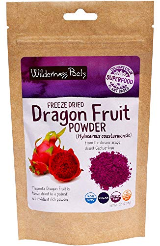 Wilderness Poets Freeze Dried Dragon Fruit Powder - Pink Pitahaya (3.5 Ounce)