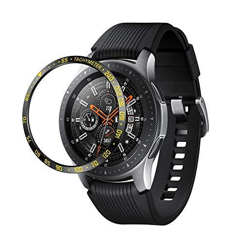 Aottom Kompatibel mit Lünette für Samsung Gear S3 Frontier Schutz Edelstahl Hülle Galaxy Watch 46mm Lünette,Schutzhülle…