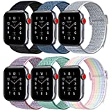 ATUP Compatible Apple Watch Band 38mm 40mm 42mm 44mm, Soft Breathable Nylon Wristbands for iWatch Apple Watch Series...