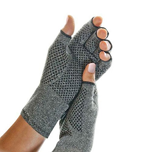 Lolicute Arthritis Gloves,Thermal Fingerless Gloves Arthritis Fingerless Gloves for Arthritic Hands Pain Relief Cotton & Spandex Keep Hands Warm (M)