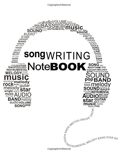 Songwriting Notebook: Songwriting Notebook For Songwriters (8.5 x 11)(120 Lined/Ruled Pages)(V9)