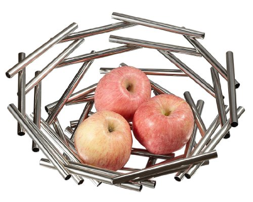 Visol Products Gilles Stainless Steel Fruit Bowl, Small by Visol