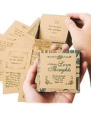 مجموعة من عروض الحب من نافي بيوانيا - 47 بطاقة ملاحظة، صندوق لطيف بحجم النخيل وصديق للبيئة | حشوات رومانسية لصندوق الغداء والمحفظة | هدية فريدة للذكرى السنوية والزفاف