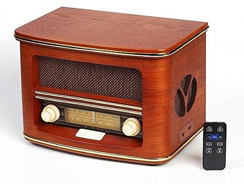 Camry CR 1109 Retro Radio LW/FM mit CD/MP3 Player und USB-Anschluss braun
