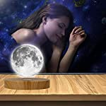 KFISI Moon Lamp 3D Printing Magnetic Levitation Moon Light Lamps with 360 Auto Rotating and 4 Working Light Modes – for…