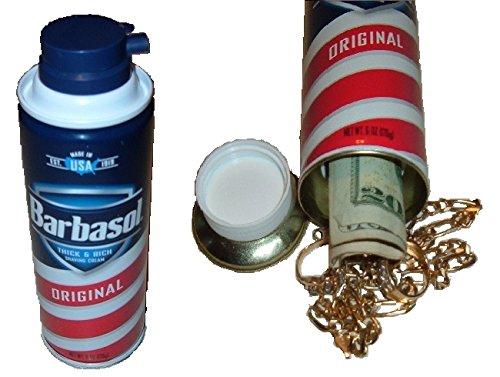 Original Barbasol Shaving Cream Diversion Can Safe stash hide cash box jewelry METAL (Metal Safe Bank)